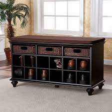 Image Cubby Sei Furniture Store Chelmsford Entrywayshoe Bench Black Small Spaces Shop