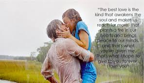 love rain quote with couple