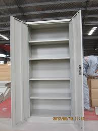 office furniture shelves. Double Door Grey Color Metal Cabinet Shelf Support /4 Adjustable Shelves Office Furniture S