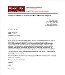 professional cover letter resume cover letter medical assistant hhrma job career