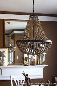 large wooden bead chandelier designs