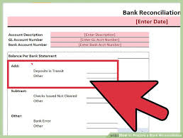 Bank Reconcilation Expert Advice On How To Prepare A Bank Reconciliation Wikihow