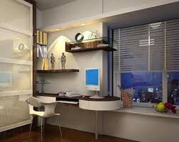 study lighting ideas. false ceiling lighting over pedestal study table also white painted cabinets and floating shelf small space kids room ideas w