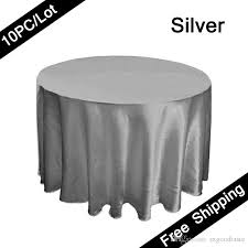 120 seamless tablecloth round party table covers satin fabric pertaining to silver cloth ideas 7