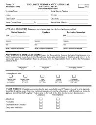 Performance Appraisal Format Pdf Fill Out And Sign
