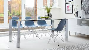 large 4 6 seater glass dining table