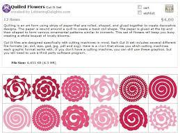 Paper Flower Cricut Template Quilled Flower Templates Svg Flower Template Paper