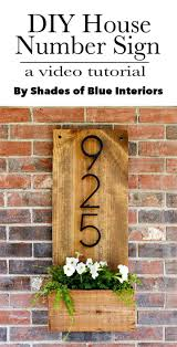 you can also add the natural wooden house number plates to your home exterior portion that will bring a great natural décor touch there along with some