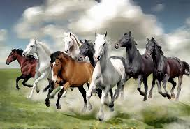 horses running. Perfect Horses Eight Painting  8 Horses Running By Yadi Sudjana With N