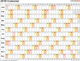 Image Result For 2019 Year Planner South Africa Excel