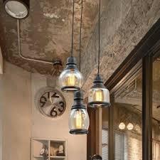 glass pendants lighting. Glass Jar 3-Light Pendant Light Pendants Lighting