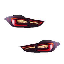Hyundai Elantra 2012 Brake Light Amazon Com New Led Taillights Assembly For Hyundai Elantra