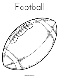 Small Picture Football Coloring Page Twisty Noodle