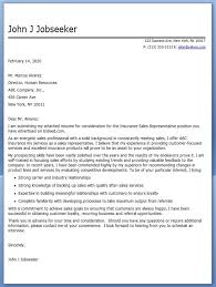 Simple And Effective Insurance Sales Rep Cover Letter Sample Vinodomia