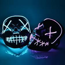 Led Light Up Mask Purge Halloween Purge Led Mask