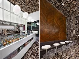 Called D'espresso, the interior has been rotated 90 degrees so that one  wall features herringbone-pattern wooden flooring while the opposite wall  will have ...