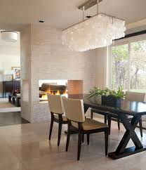 modern dining room lights. Fair White Shell Chandelier Decor Ideas In Dining Room Contemporary Design With CEILING LIGHT Dark Stained Wood Area Modern Lights G