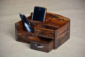 brown wood desk organizer small desk
