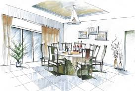 Great Photos Of Sketch Dining Room Design Ideas Room Design Sketch Set  Decorating Ideas