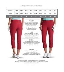 Bend Over Pants Size Chart Swing Control Fit And Size Chart