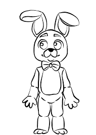 Bonnie Fnaf Coloring Pages Five Nights At Freddys Fnaf Coloring