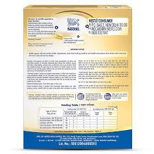 Infant Nutrition Chart Nestle Nan Pro 1 Starter Infant Formula Powder Upto 6