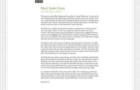 black snake essay good copy kevin s site