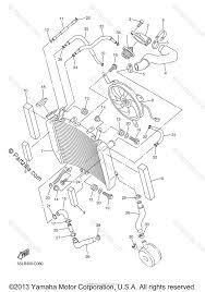 yamaha motorcycle 2004 oem parts diagram for radiator hose partzilla