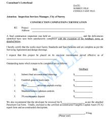 Work Completion Certificate Templates Word Excel Samples