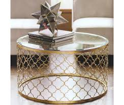 coffee table drum gold coffee table glass top coffee table with gold base gold