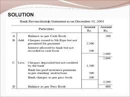 bank reconciliation form bank reconciliation statement