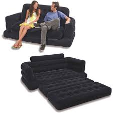 intex two person inflatable pull out sofa bed black