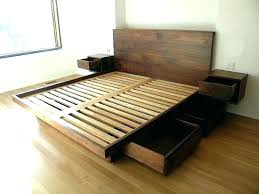 king platform bed with storage drawers. Queen Bed With Storage Under Frame Underneath Drawers . King Platform D