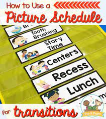 Using storyboard that, you can make lots of different visual schedules to support group play, daily routines or simple transitions such as first. Picture Schedule Cards For Preschool And Kindergarten