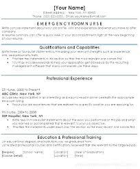 Sample Nurse Resume Resume Examples Clinic Nurse Resume Emergency