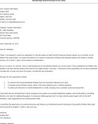 Resume Examples Templates Principal Cover Letter Easy Writing Vice