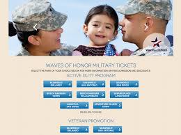 how do i get the waves of honor tickets for military