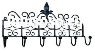 Wrought Iron Wall Coat Rack Inspiration Wrought Iron Wall Mounted Coat Rack Amazing Design Ideas