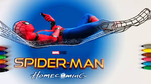 Small Picture Spider Man Homecoming Coloring Pages For Children With Color
