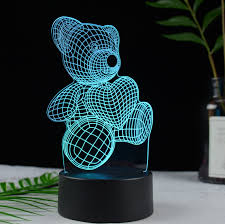 <b>Hot Sale</b> Acrylic Plate 3d Led Table Lamp 3d <b>Led Night Light</b>,3d ...