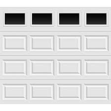 clopay classic collection 8 ft x 7 ft 6 5 r value insulated garage