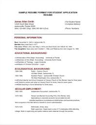 College Interview Resume Template 69 Infantry