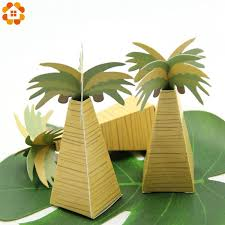 diy folding coconut tree candy box for wedding party favors and gifts box decoration kids birthday party supplies cute gift wrap cute gift wrapping from