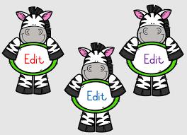 Birthday Chart With Zebra