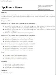 Free Resume Templates In Word Minimalist Resume Template Word Free ...