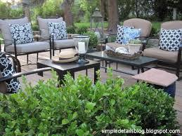 deck furniture arrangement
