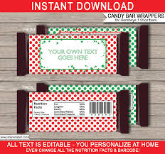 Christmas Hershey Candy Bar Wrappers | Personalized Candy Bars