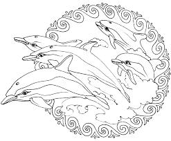 Free Mandalas Page Mandala To Color Animals Frees Dolphins