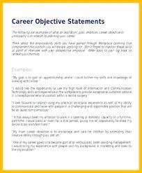 Job Resume Objective Statements Airexpresscarrier Com