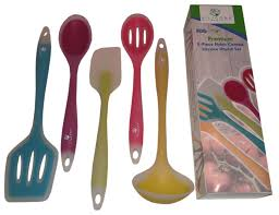 49738888 1 zoom design five piece utensil set awesome colourmatch stainless steel pc kitchen utensils aqua
